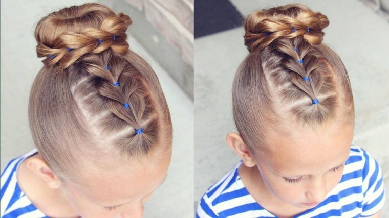 peinados para ninas faciles-trenza-mono