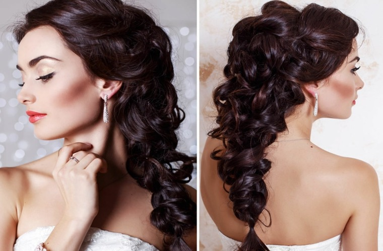 peinados para novias con velo-semirecogidos