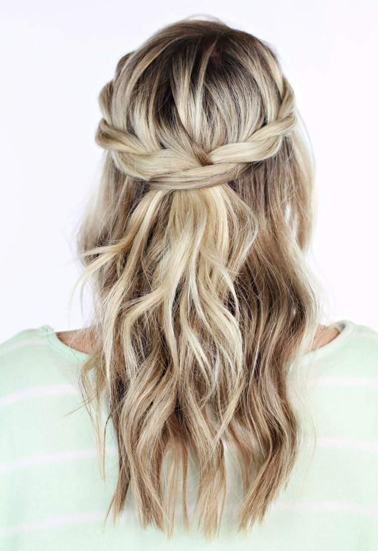 Peinados semirecogidos faciles con trenzas