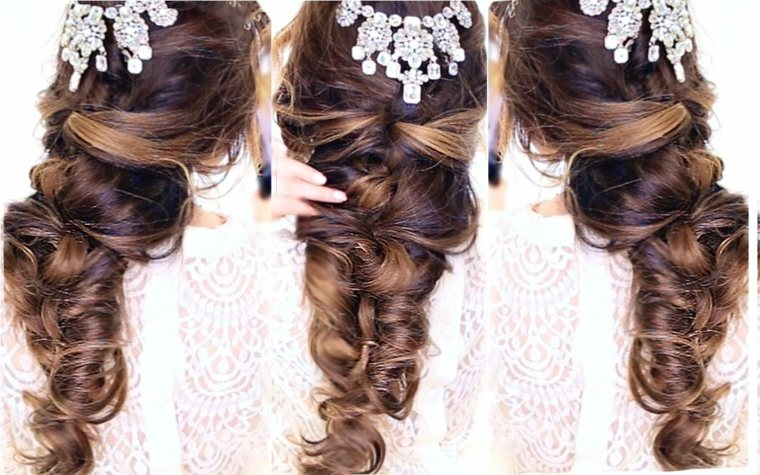 peinados semirecogidos con trenzas-bodas-mujeres