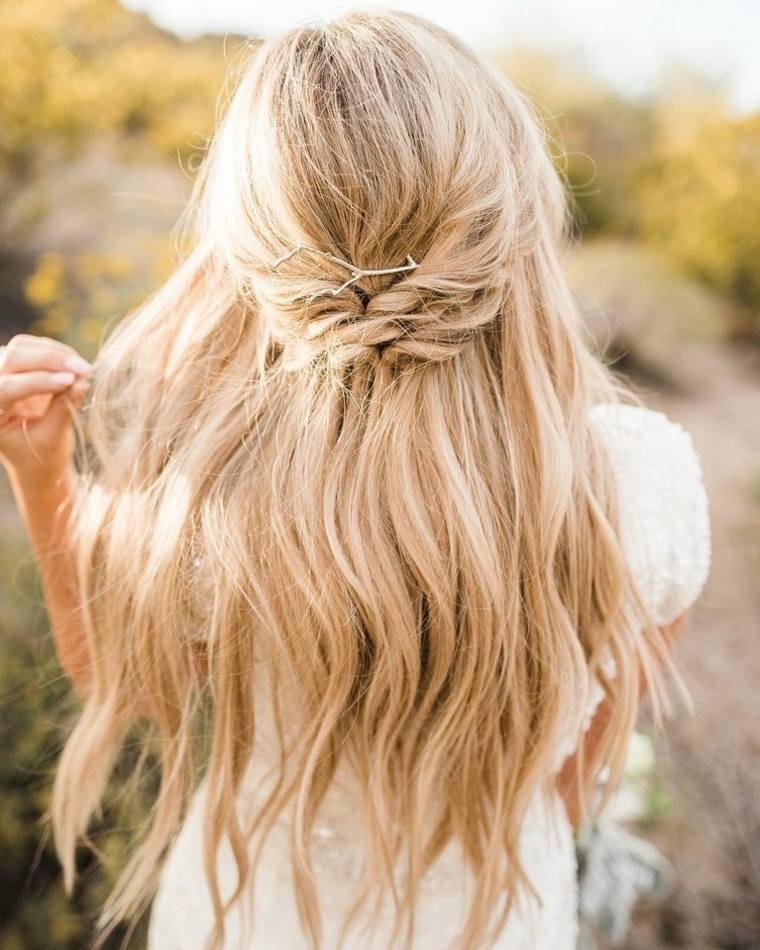 peinados semirecogidos con trenzas-bodas-novias