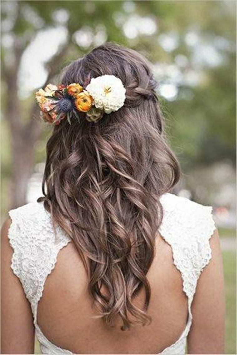 peinados semirecogidos con trenzas-modernos-bodas