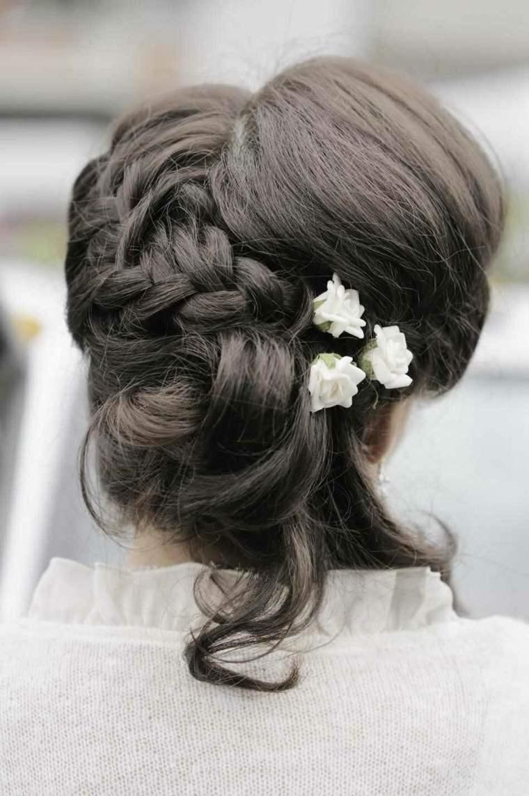 peinados semirecogidos con trenzas-mujeres-boda