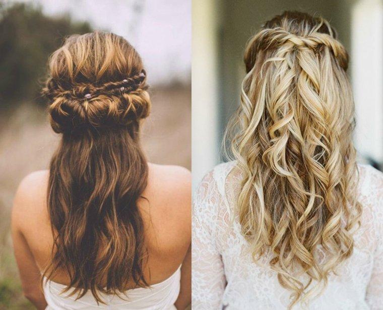 Peinados semirecogidos con trenzas para bodas muy modernos - Semirecogidos con trenzas ...