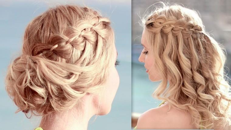 peinados semirecogidos con trenzas-mujeres-modernas