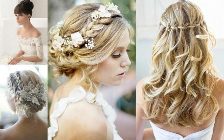 peinados semirecogidos con trenzas-novias-modernas