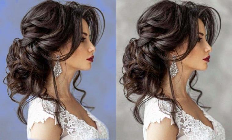 peinados semirecogidos-modernos-novias