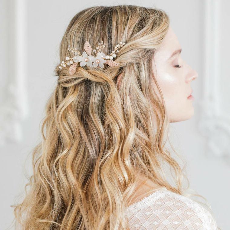 Peinados semirecogidos con trenzas para bodas muy modernos
