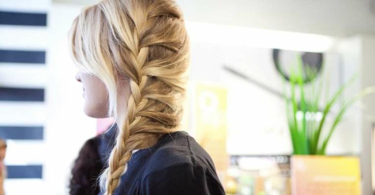 peinados semirecogidos-trenzas-lado