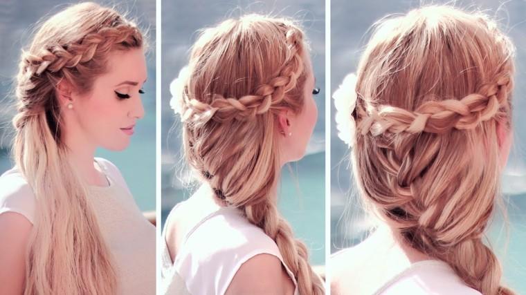 peinados sencillos con trenzas-bodas