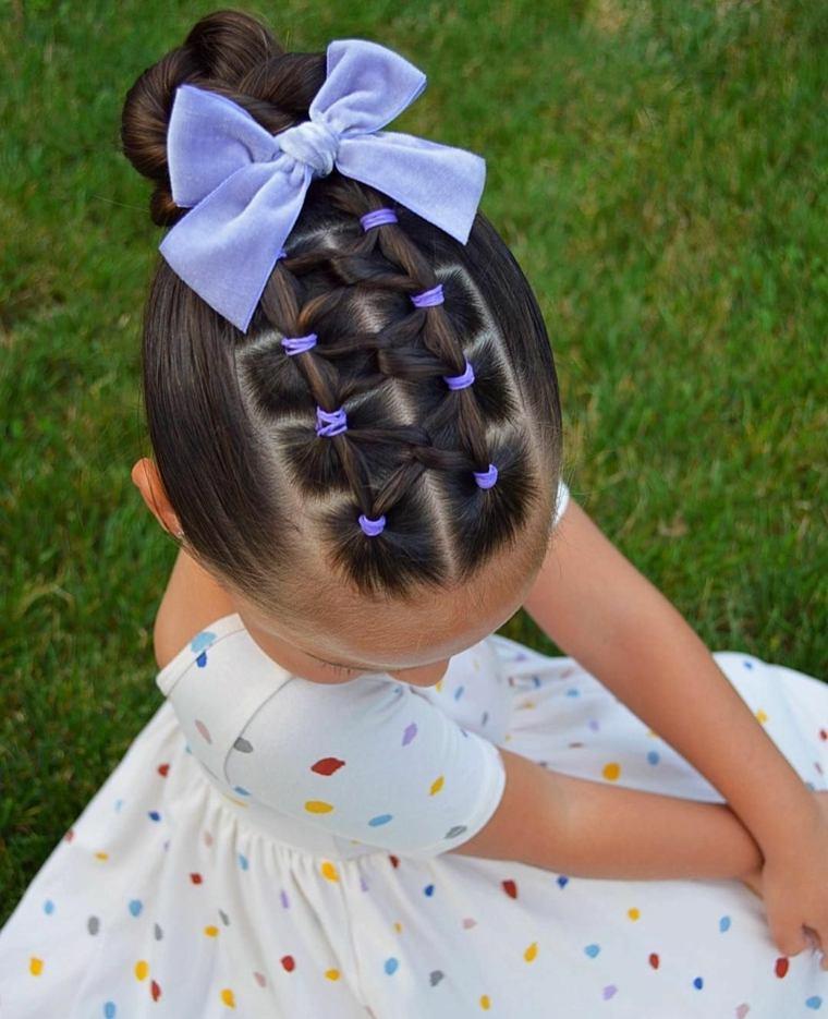 peinados sencillos para ninas-lazos