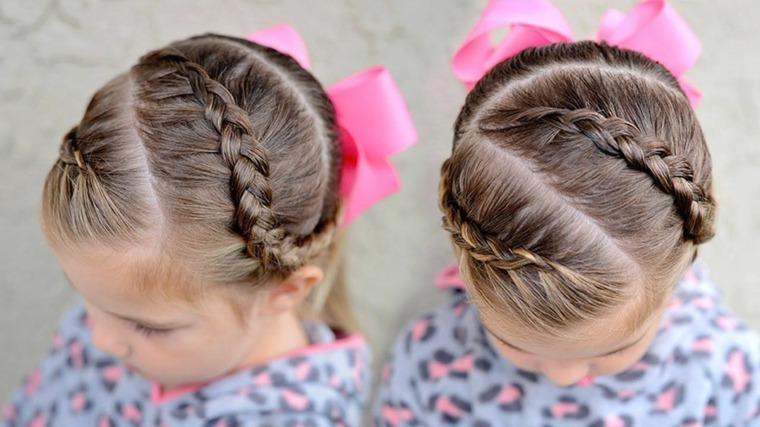 peinados sencillos para ninas-trenzas
