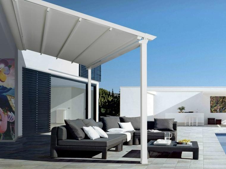 pérgolas para jardín-diseno-color-blanco-estilo-moderno
