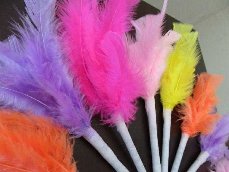 Plumas con plumas - decorar bolígrafos