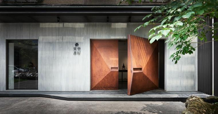 Puertas De Entrada Principal Diseno Geometrico Por Bass Design - Puertas-entrada-principal