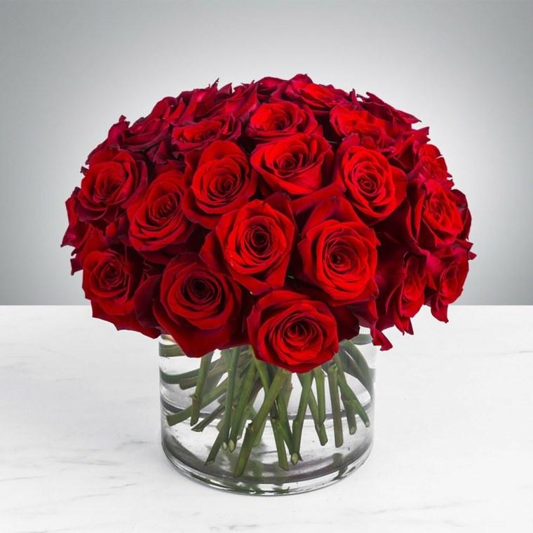 ramos florales-rosas-rojas-bodas