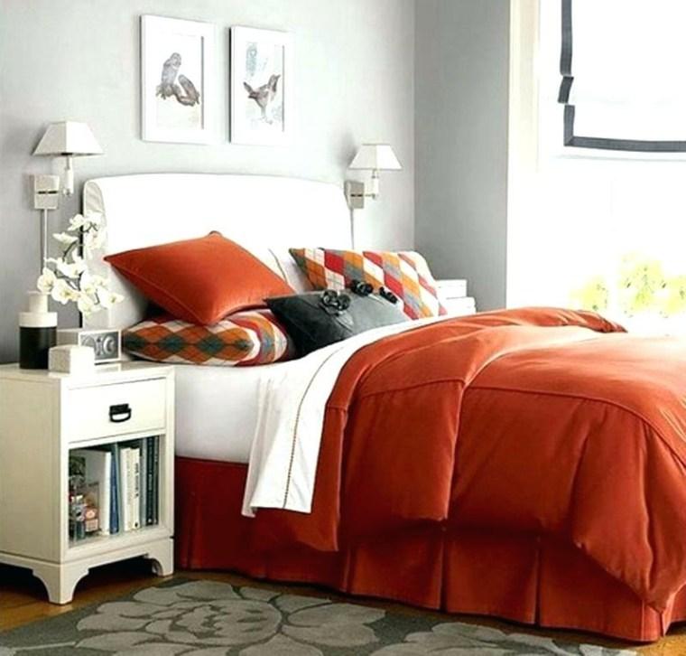 recamaras modernas minimalistas-acentos-naranjas