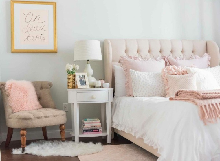 recamaras modernas minimalistas-rosa