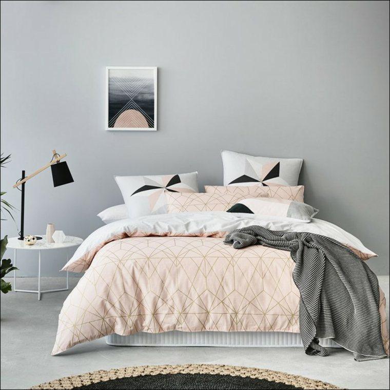 recamaras modernas-rosa-gris