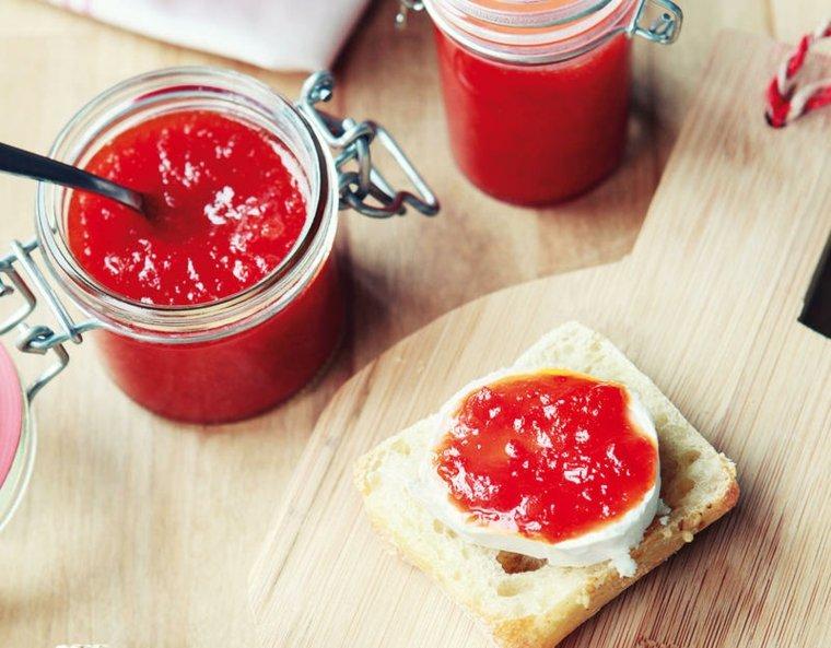 receta de mermelada de pimientos-rojos