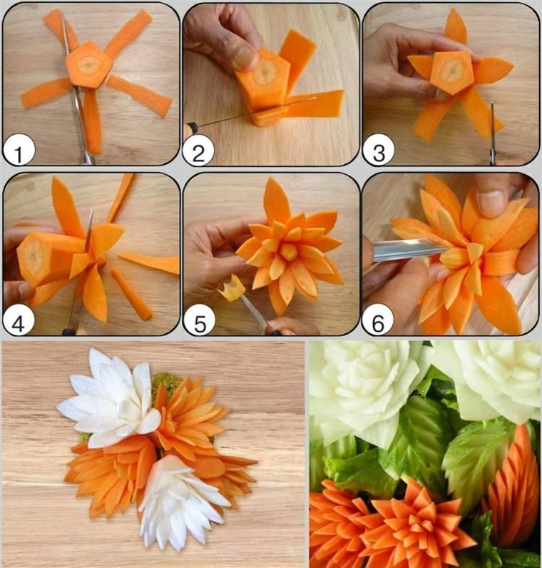 recetas de cocina faciles-decoraciones-zanahoria