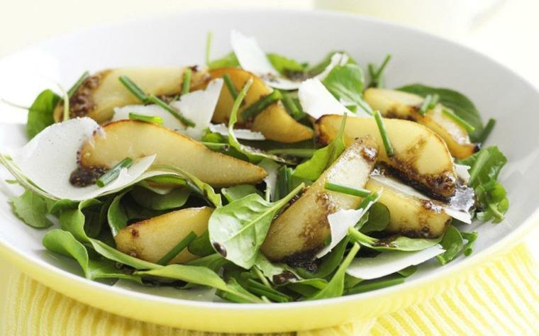 recetas de cocina faciles-espinacas-peras