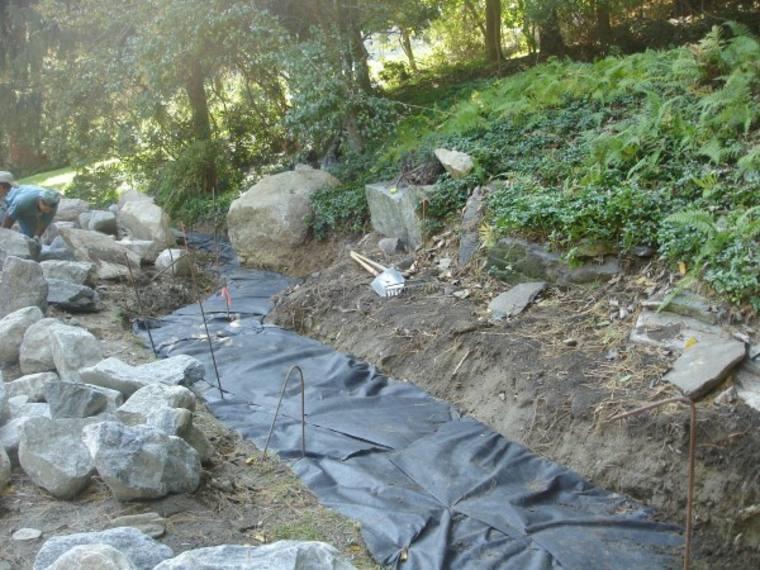 Pasos para construir un rio seco