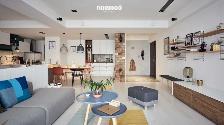 sala de estar estilo nórdico