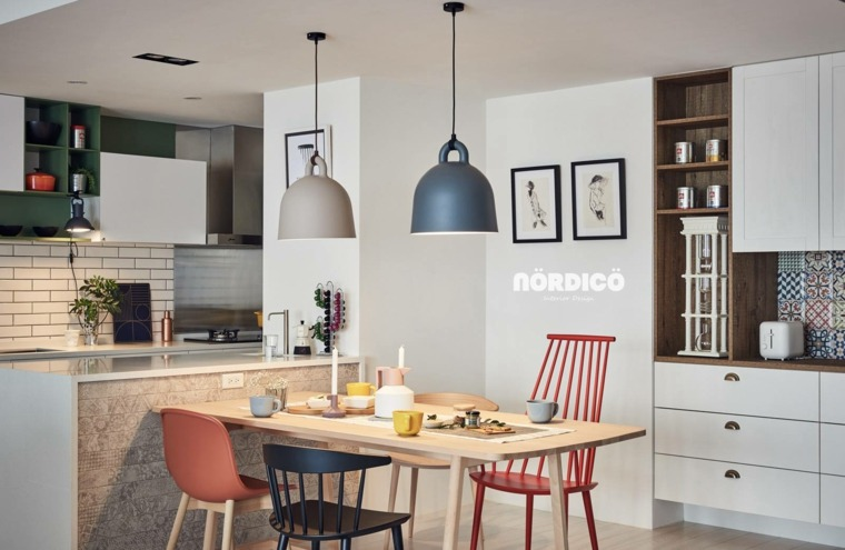 diseño sala de estar de estilo nórdico