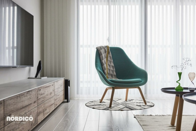 sala de estar de estilo nórdico