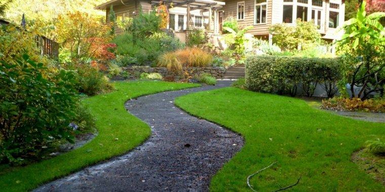 Jardiner a ideas de pavimentos y plantas para los caminos for Pavimentos de jardin