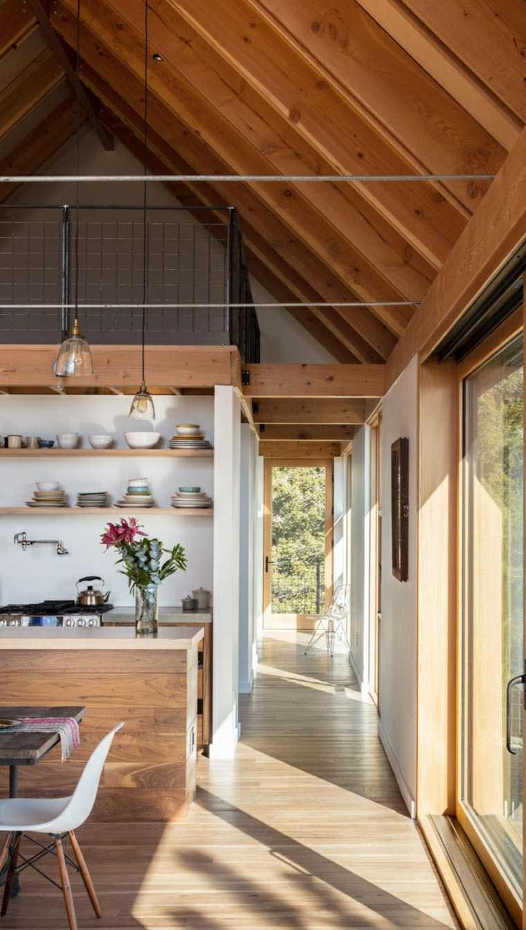 Excelente Cocina Y Salón Diseños Combinados Ideas - Como Decorar la ...