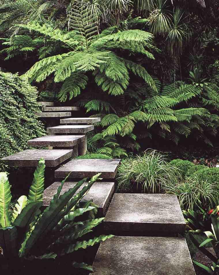 tipos de escaleras-baldosas-jardines