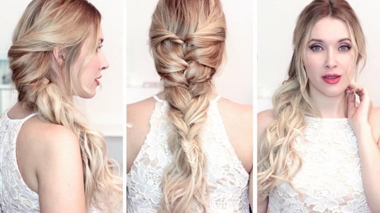 trenzas cabello largo-modernas-bodas