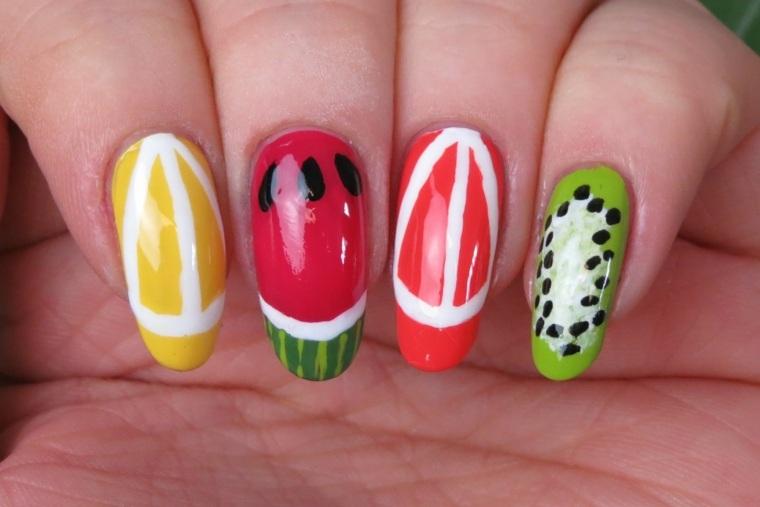 unas de moda-colores-frutas-primavera