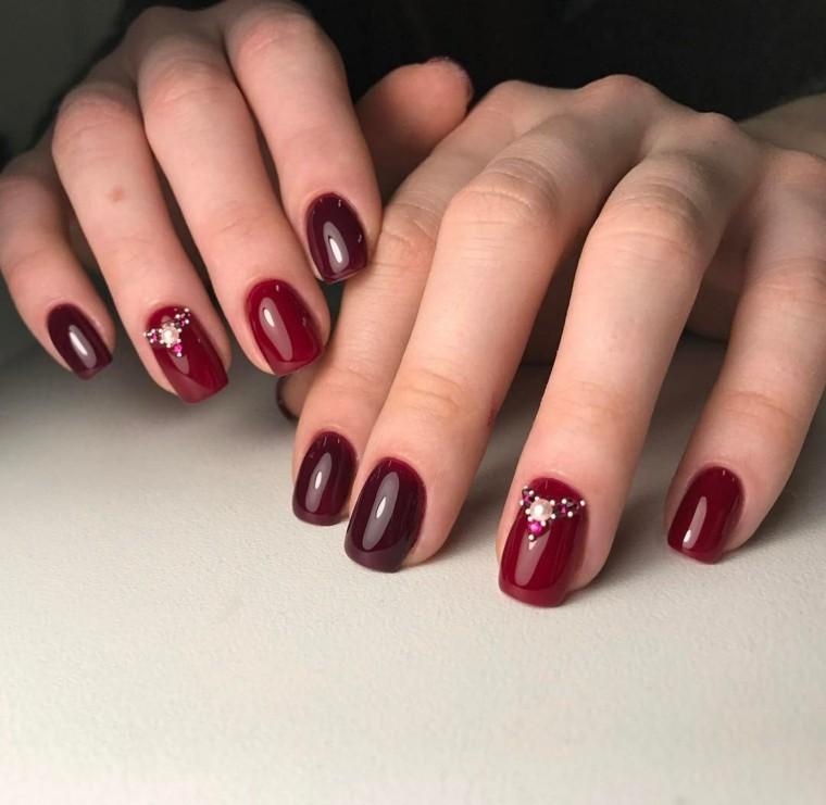 Unas Decoradas Color Rojo Chungcuso3luongyen