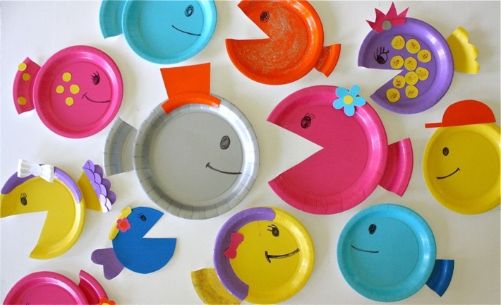 variantes decorativas platos peces