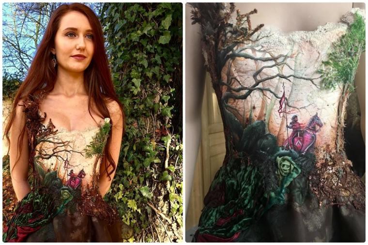 vestidos bonitos bosque