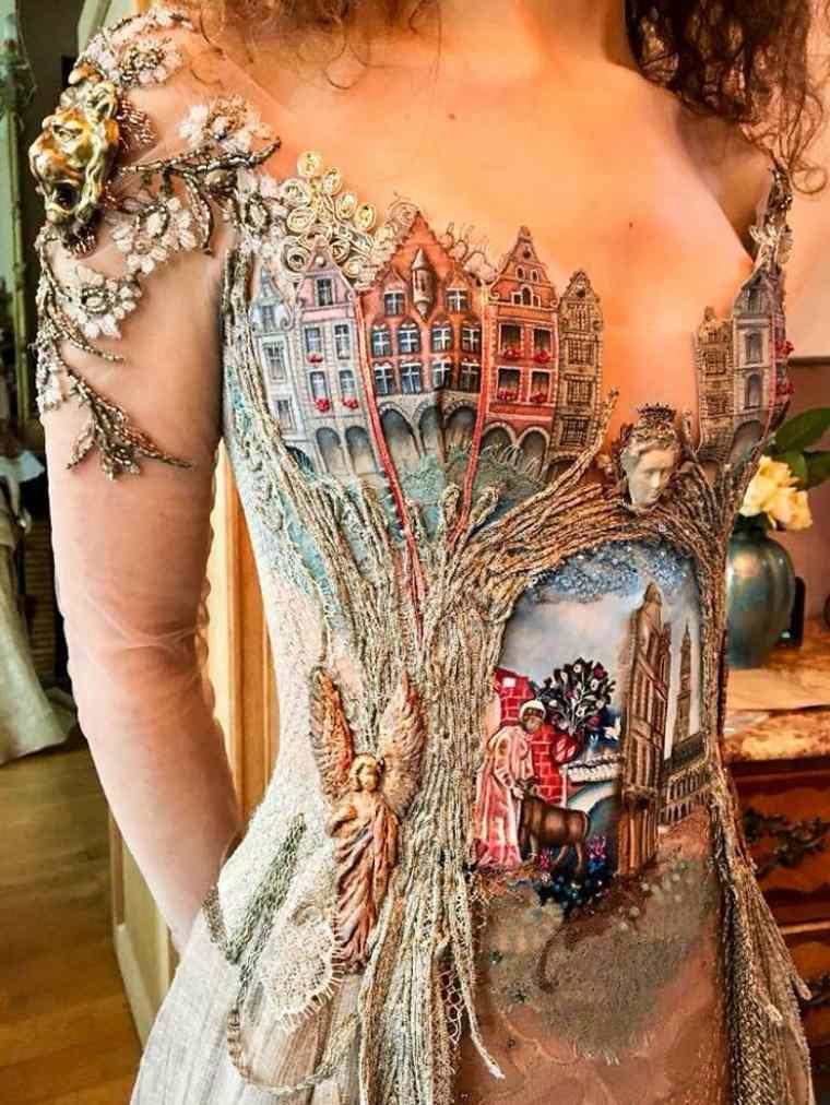 vestidos bonitos detalle