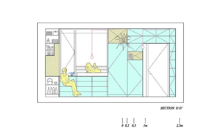 Interiorismo y almacenamiento inteligente – Yojigen Poketto por Elii