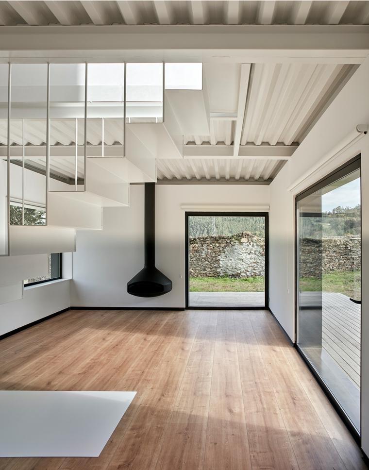 interior de Casa Montaña de Baragaño Architects