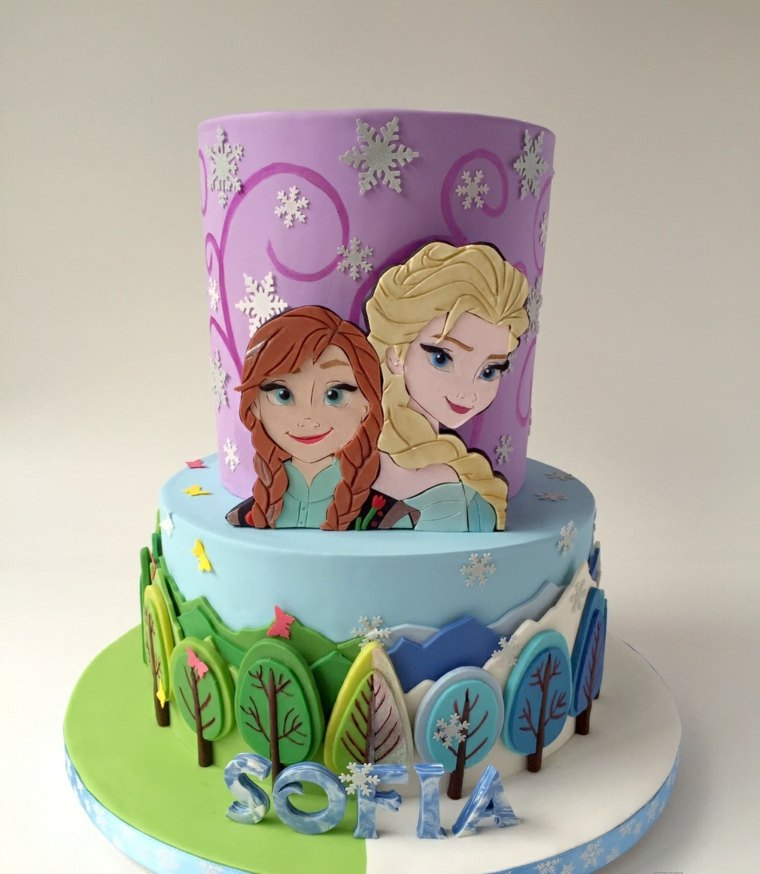 Frozen-pastel-cumpleanos-ideas-decoracion-pastel-nina
