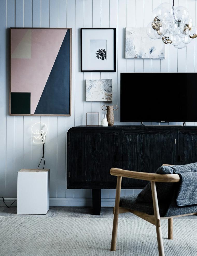 aparador-negro-y-tv-decoración