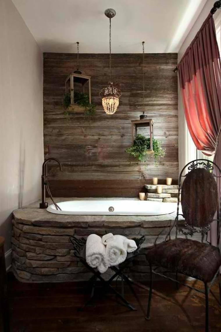paredes de acento de madera
