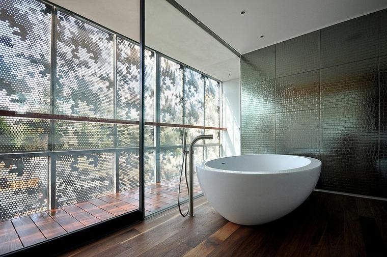 baños modernos bañera