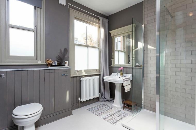 baños modernos blanco-y-gris