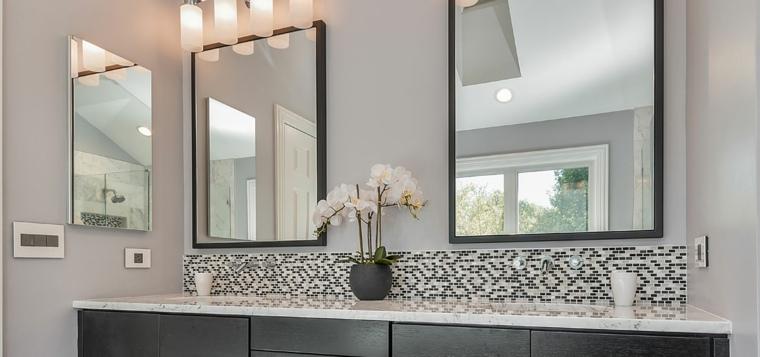 baños modernos espejos