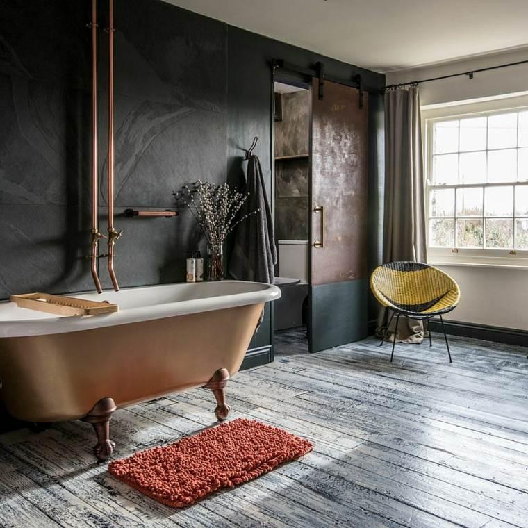 baños modernos rústicos