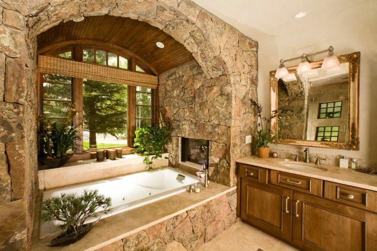 paredes de acento de piedra