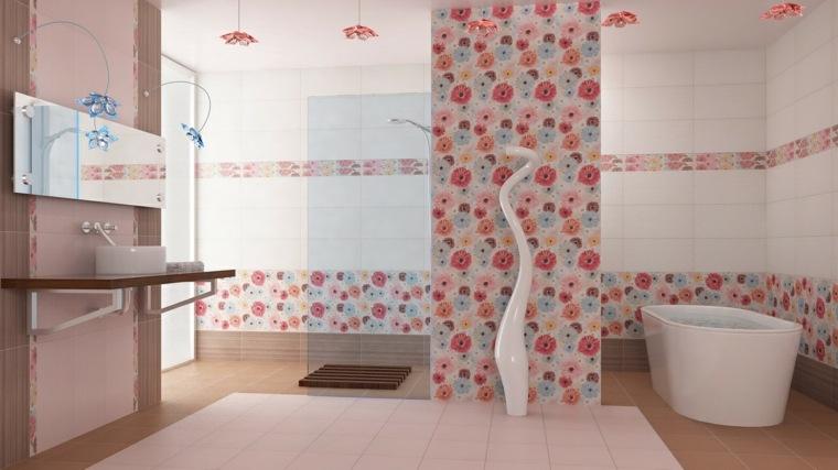 banos pequenos modernos-decorados-flores